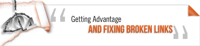 Getting Advantage and Fixing Broken Links
