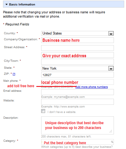 Google Places Registration