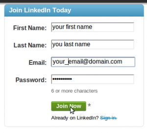 linkedin registration
