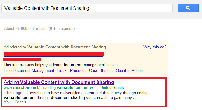 Index by Google Online Document Sharing File