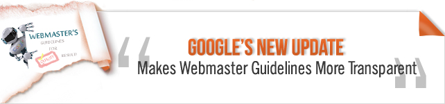 Google webmaster guidelines update
