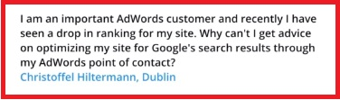 Adwords and Ranking Question
