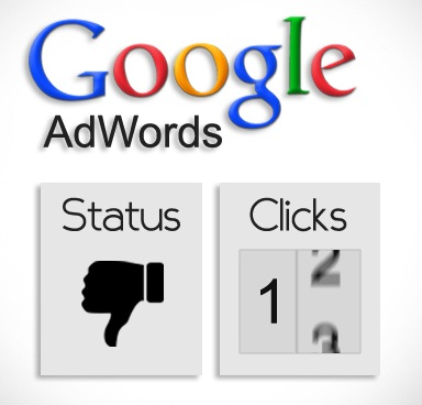 Adwords disapproved with clicks