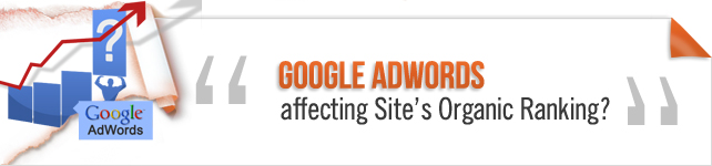 Google Adwords on Organic Rankings