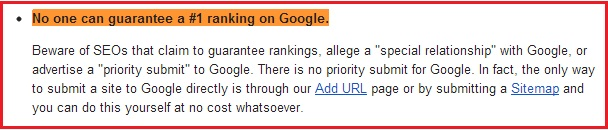 No one can guarantee 1 ranking in Google
