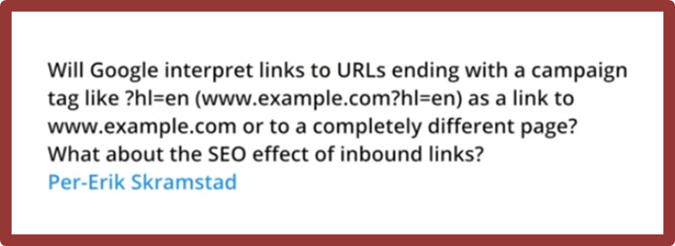 question on links to urls ending with campaign tags