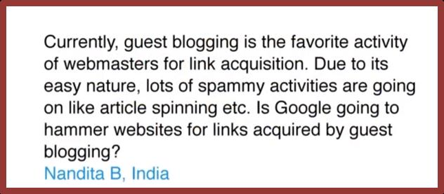 question on spammy guest blog
