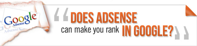 adsense on site rankings