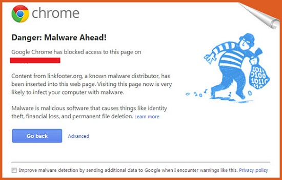 malware detected by Chrome