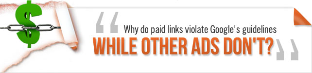 paid links and advertising