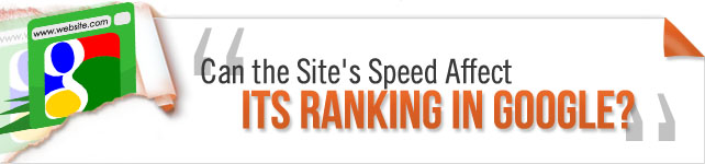 site's speed on rankings in google