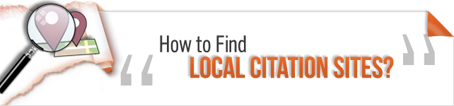 how to find local citation sites