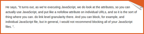 Matt Cutts explanation on Javascript