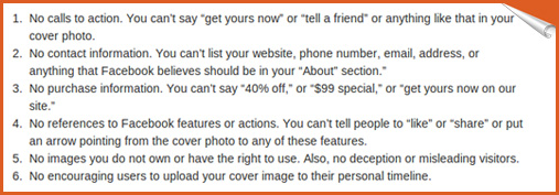 facebook guidelines before