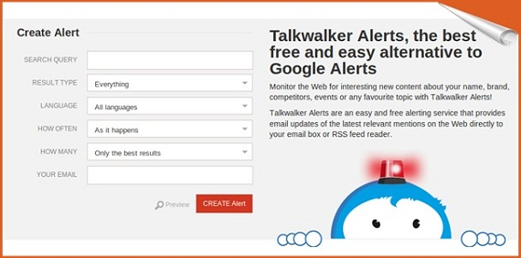talkwalker create alert