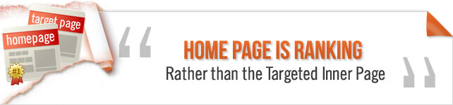 Home Page Ranks rather than the Targeted Inner Page