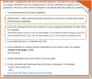 recent example on unnatural links