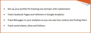 track seo, social media and ads