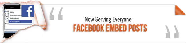 Now Serving Everyone:Facebook Embed Posts