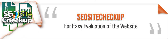 SeoSiteCheckup For Easy Evaluation of the Website