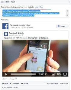embed video post