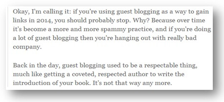 Matt Cutts on Guest Posting